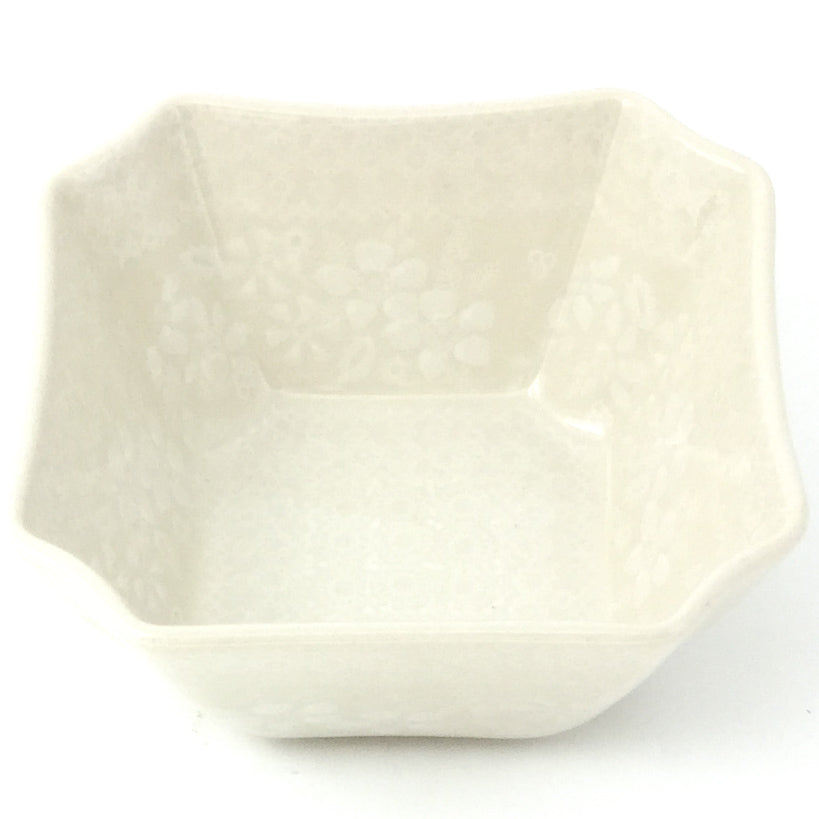Square Soup Bowl 16 oz in White on White