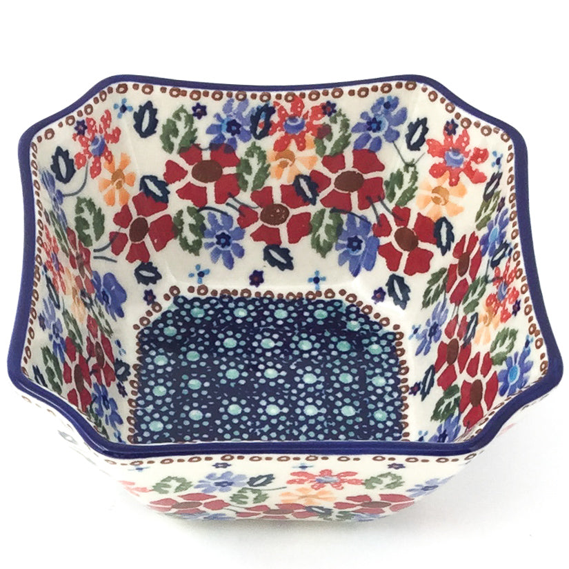 Square Soup Bowl 16 oz in Wild Flowers