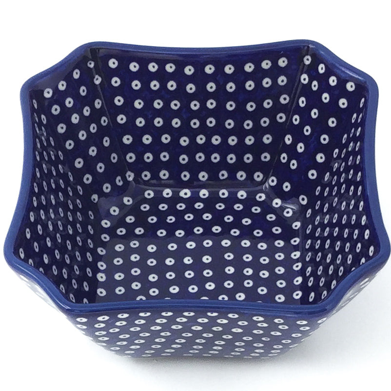 Square Soup Bowl 16 oz in Blue Elegance