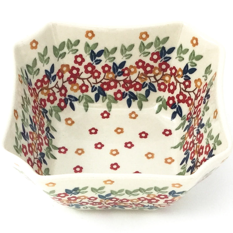 Square Soup Bowl 16 oz in Tiny Flowers