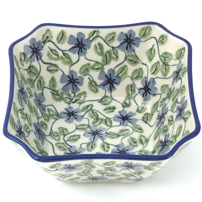 Square Soup Bowl 16 oz in Blue Clematis
