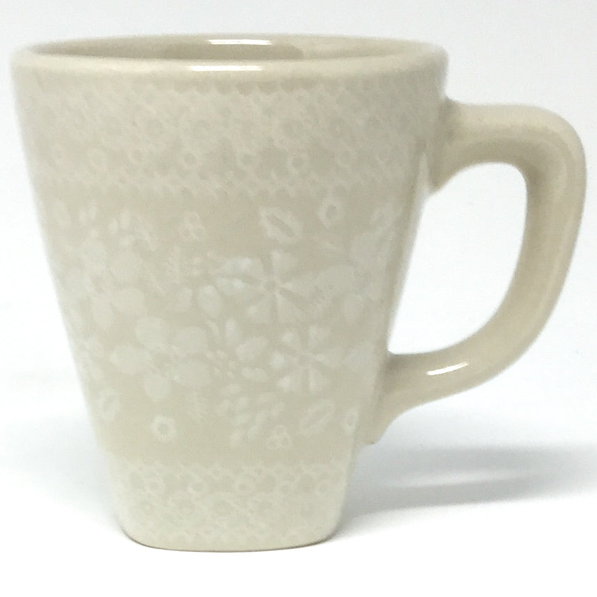 Square Cup 8 oz in White on White