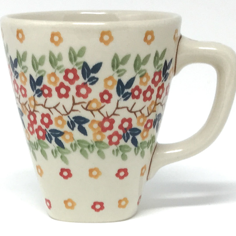 Square Cup 8 oz in Tiny Flowers