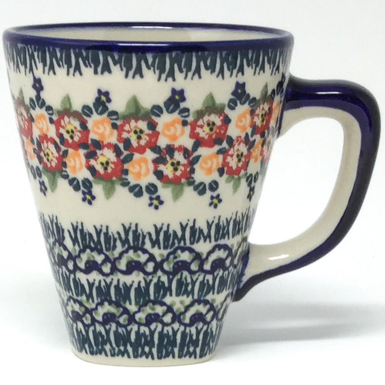 Square Cup 8 oz in Wild Roses