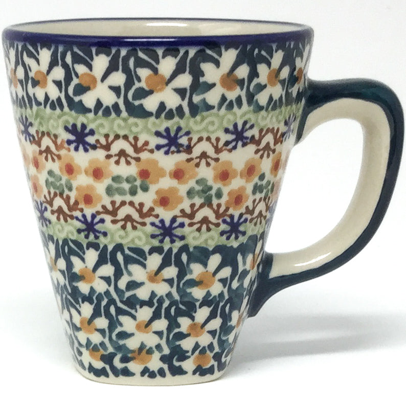 Square Cup 8 oz in White Daisy
