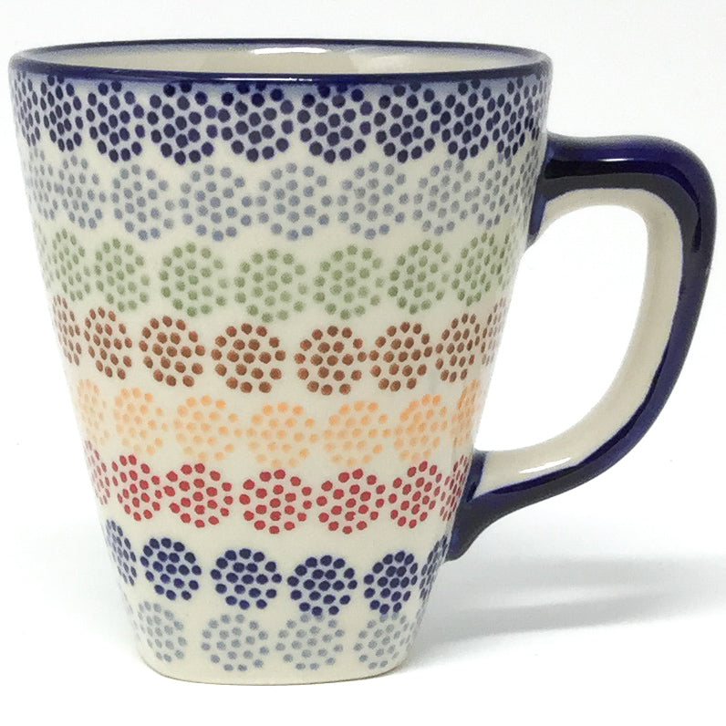 Square Cup 8 oz in Modern Dots