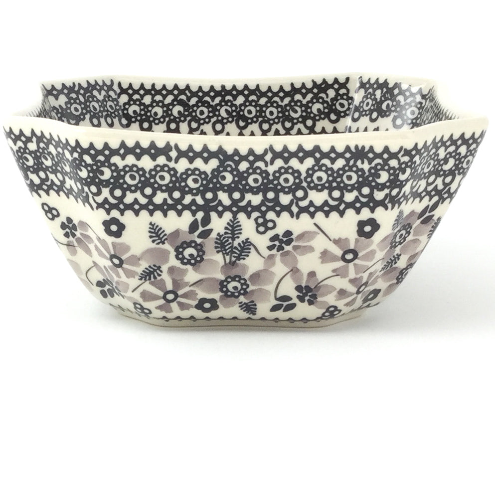 Square Soup Bowl 16 oz in Gray & Black