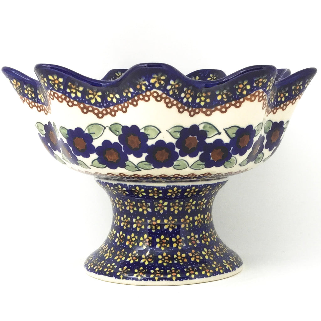 Pedestal Berry Bowl in Petunia