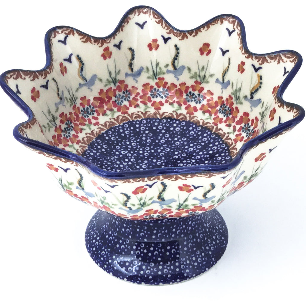 Pedestal Berry Bowl in Simply Beautiful