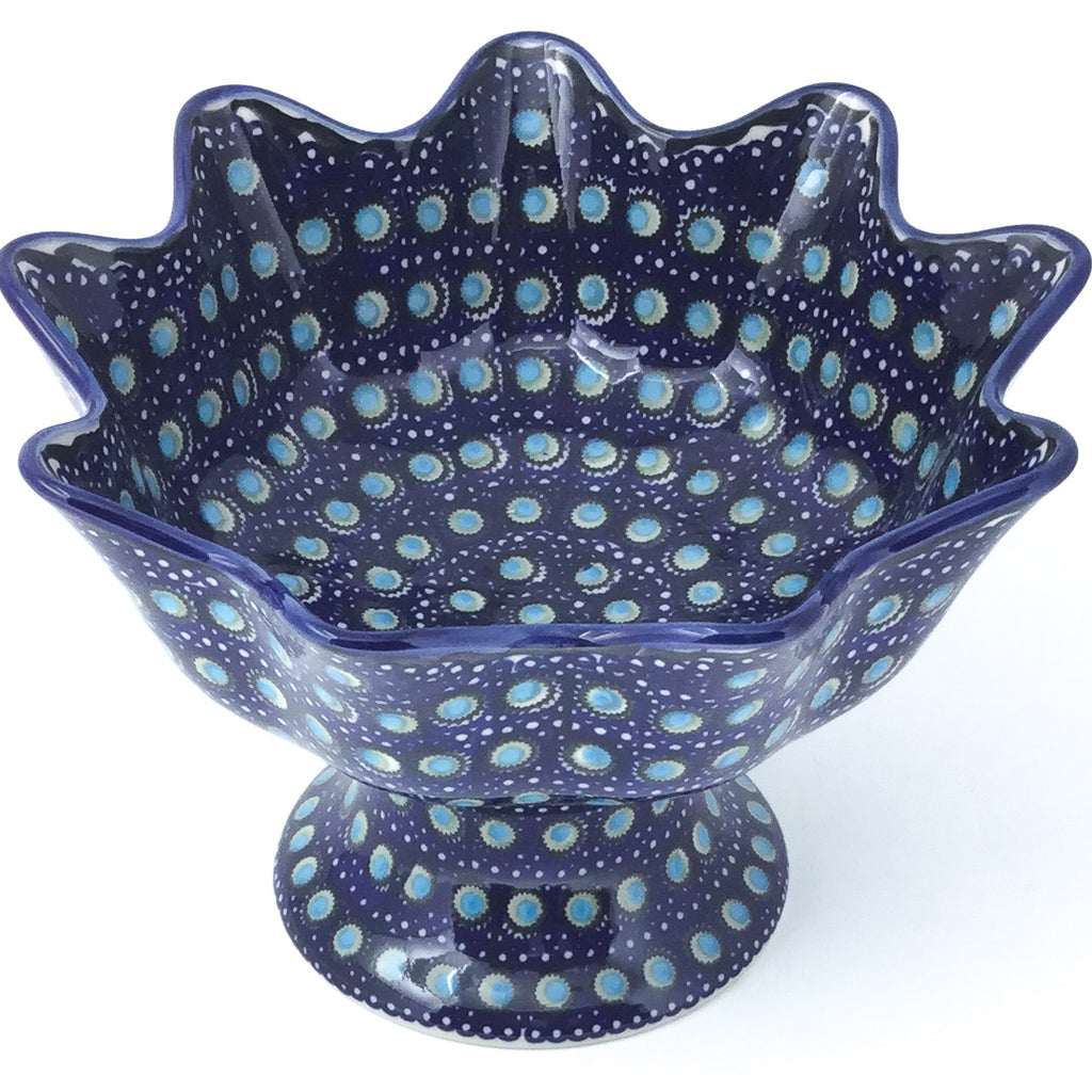 Pedestal Berry Bowl in Blue Moon