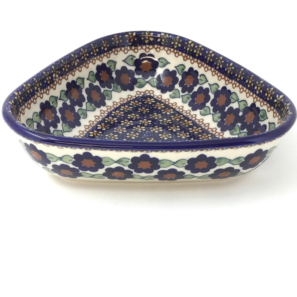 "Triangular Bowl 8"" in Petunia"