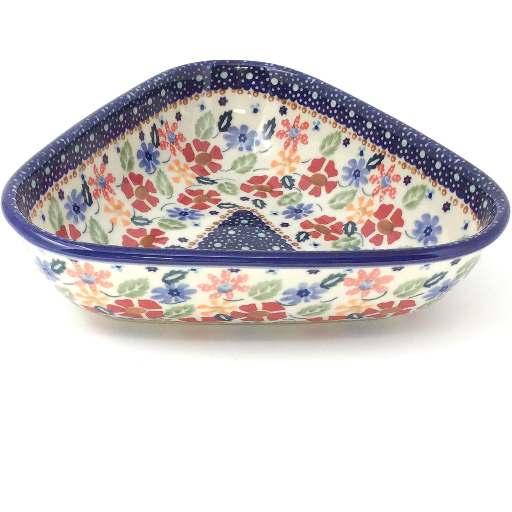 "Triangular Bowl 8"" in Wild Flowers"