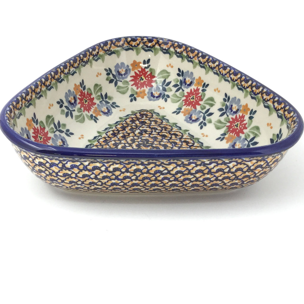 "Triangular Bowl 8"" in Late Spring"