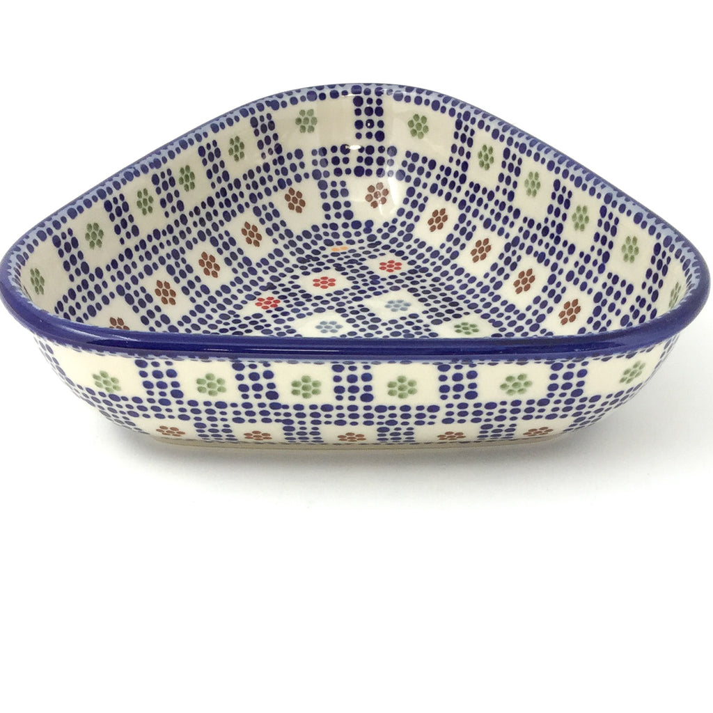 "Triangular Bowl 8"" in Modern Checkers"