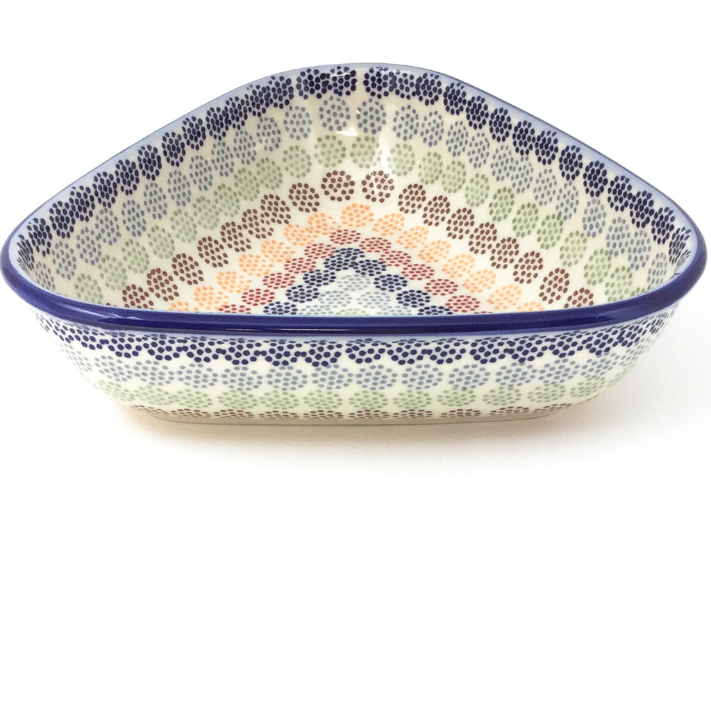 "Triangular Bowl 8"" in Modern Dots"