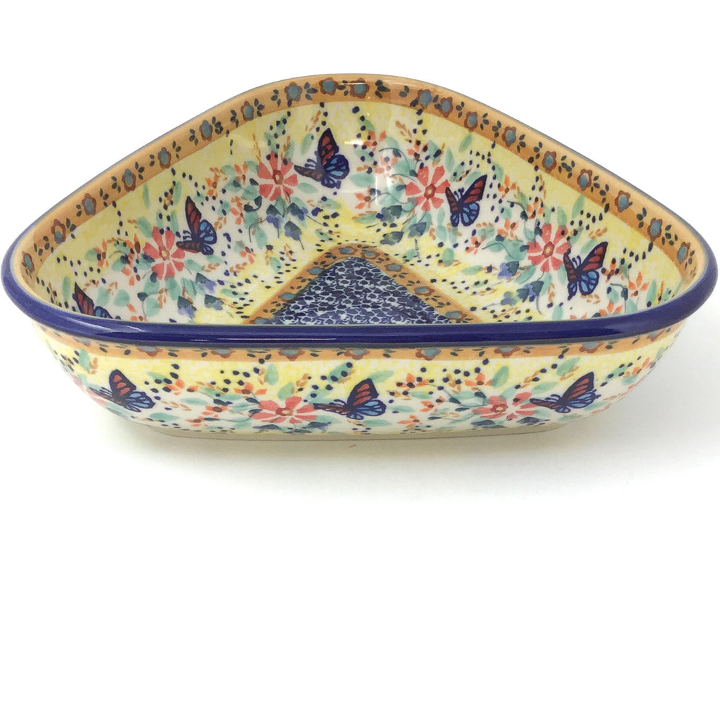 "Triangular Bowl 8"" in Butterfly Meadow"