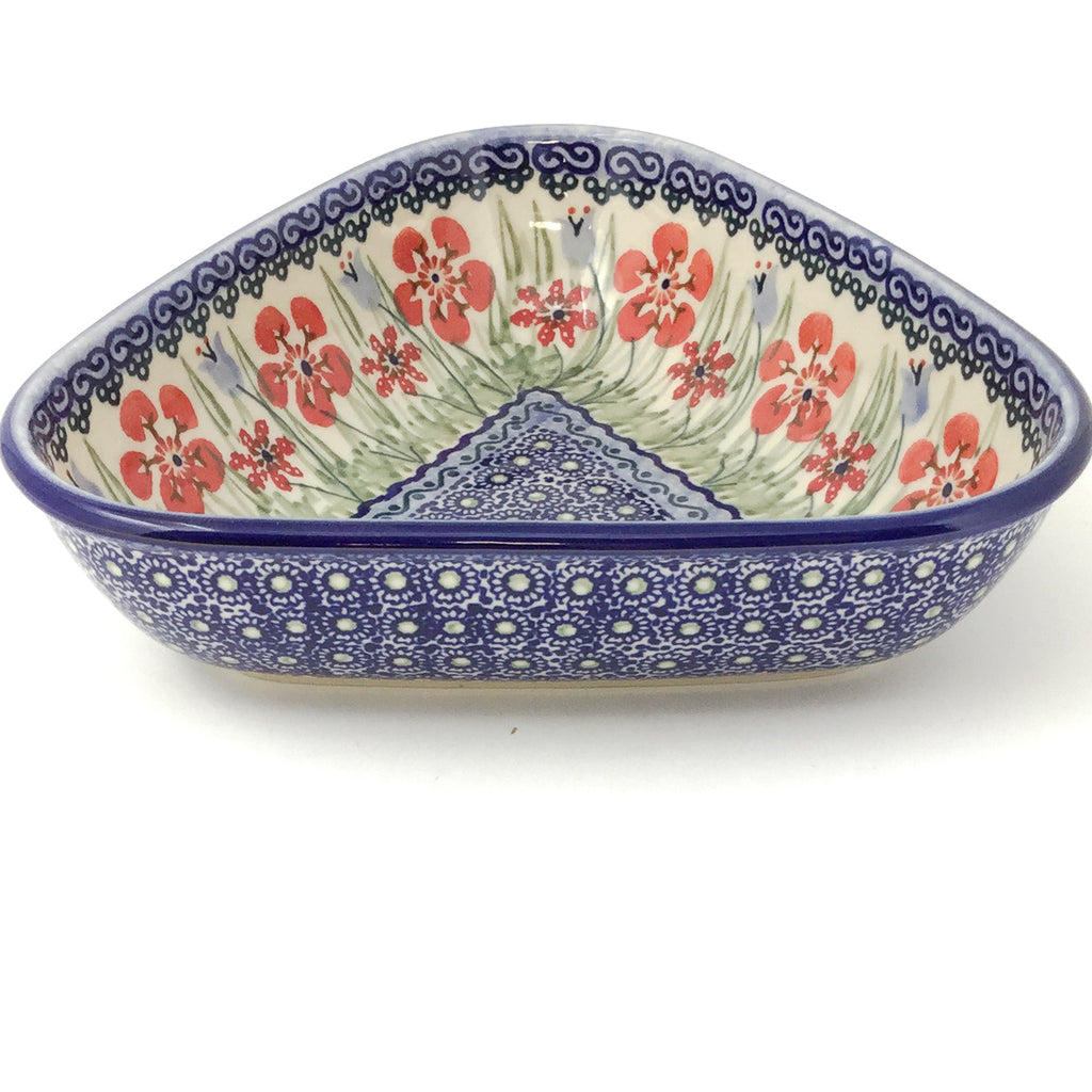 "Triangular Bowl 8"" in Spring Meadow"