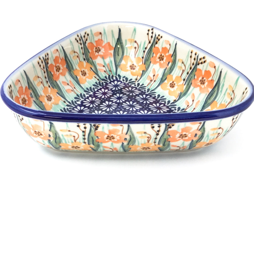 "Triangular Bowl 8"" in Sunshine Meadow"