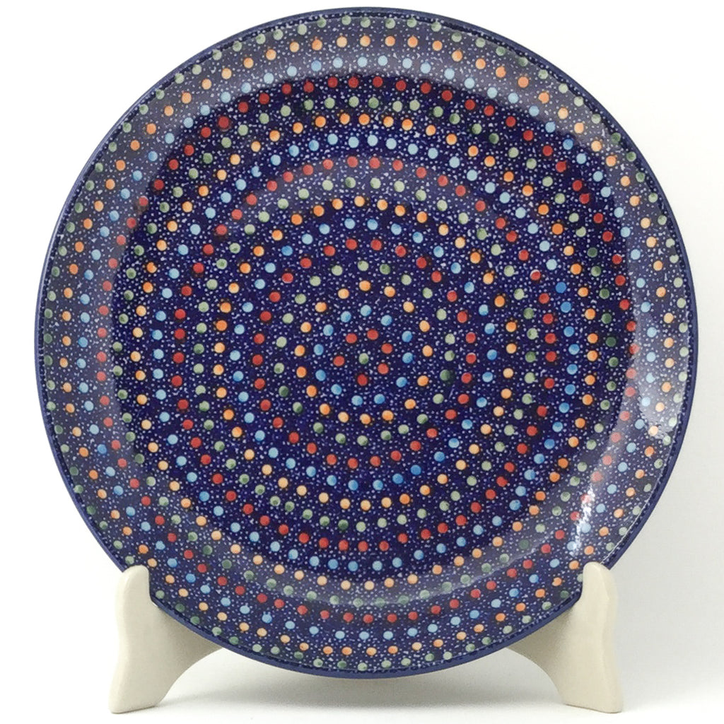 "Dinner Plate 10"" in Multi-Colored Dots"