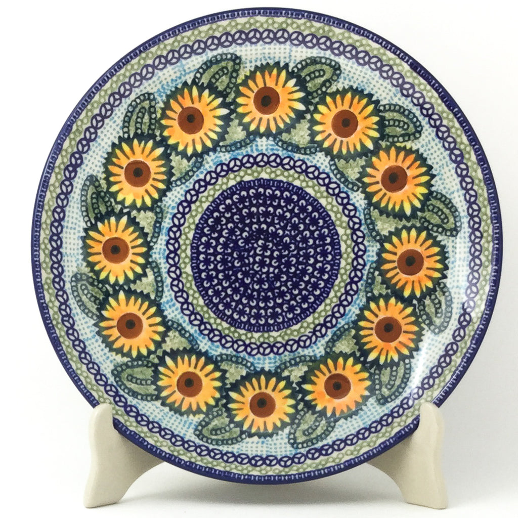 "Dinner Plate 10"" in Sunflowers"