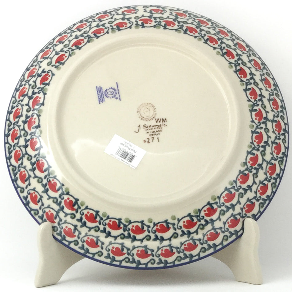 "Dinner Plate 10"" in Red Poppies"
