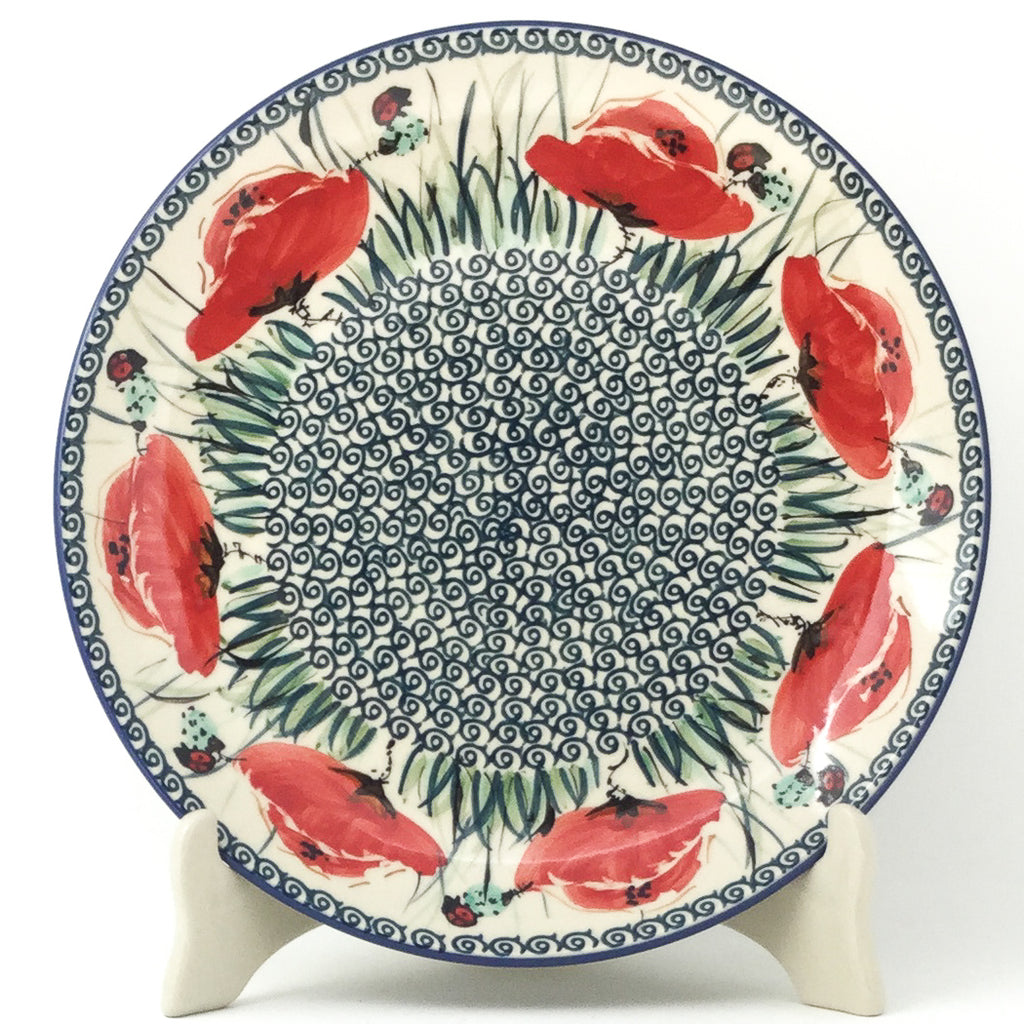 "Dinner Plate 10"" in Polish Poppy"
