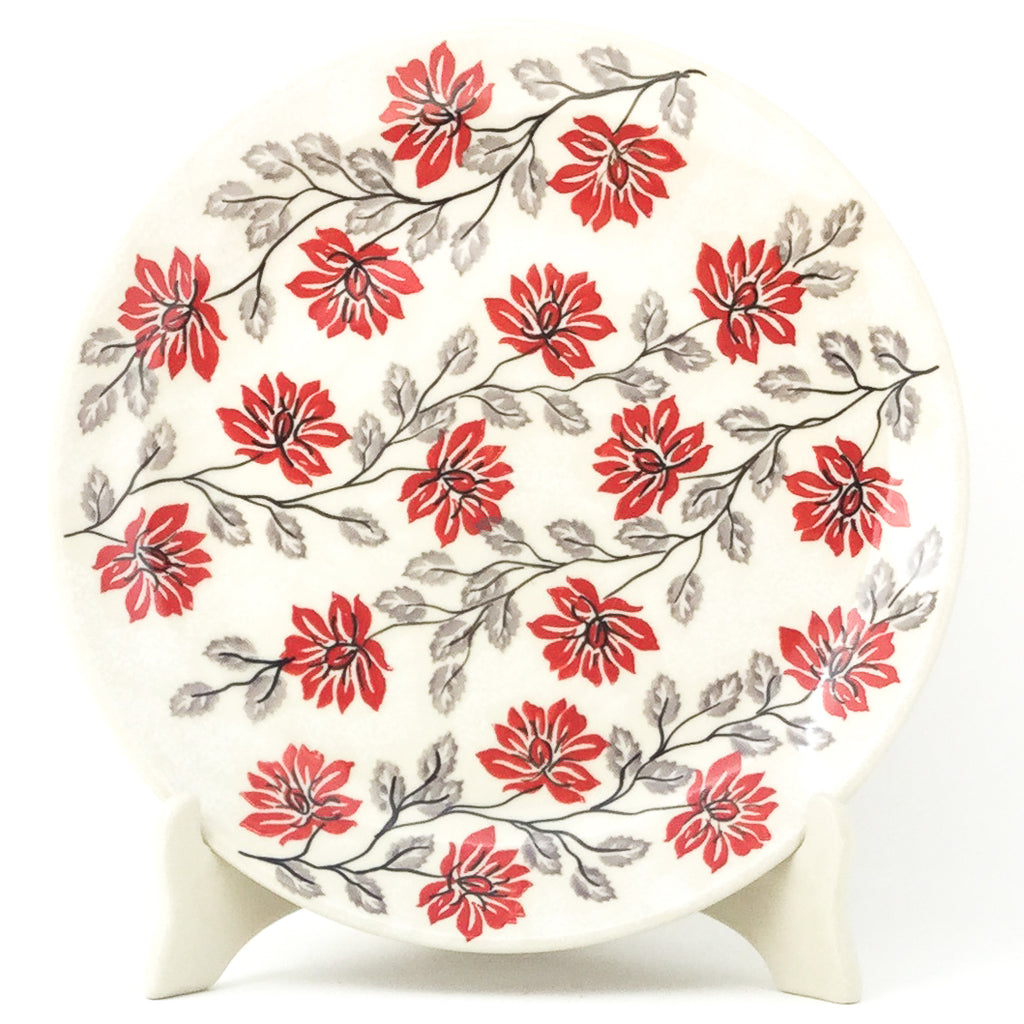 "Dinner Plate 10"" in Red & Gray"