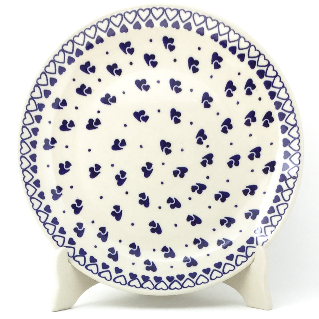 "Dinner Plate 10"" in Double Hearts"
