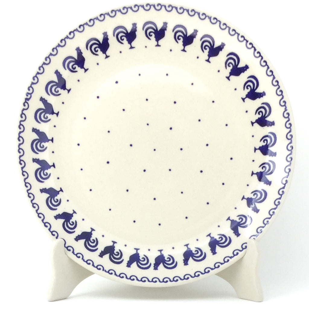 "Dinner Plate 10"" in Blue Roosters"