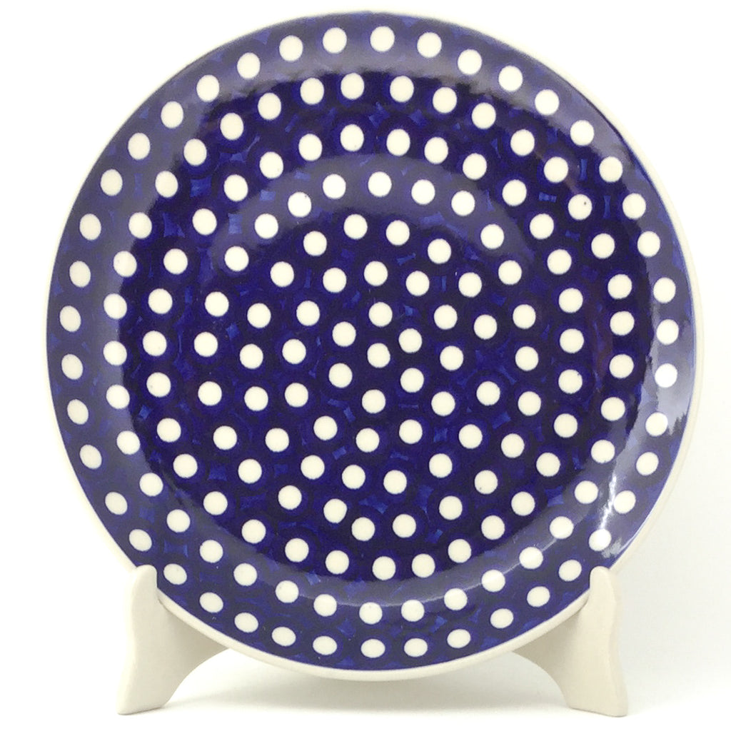 "Dinner Plate 10"" in White Polka-Dot"