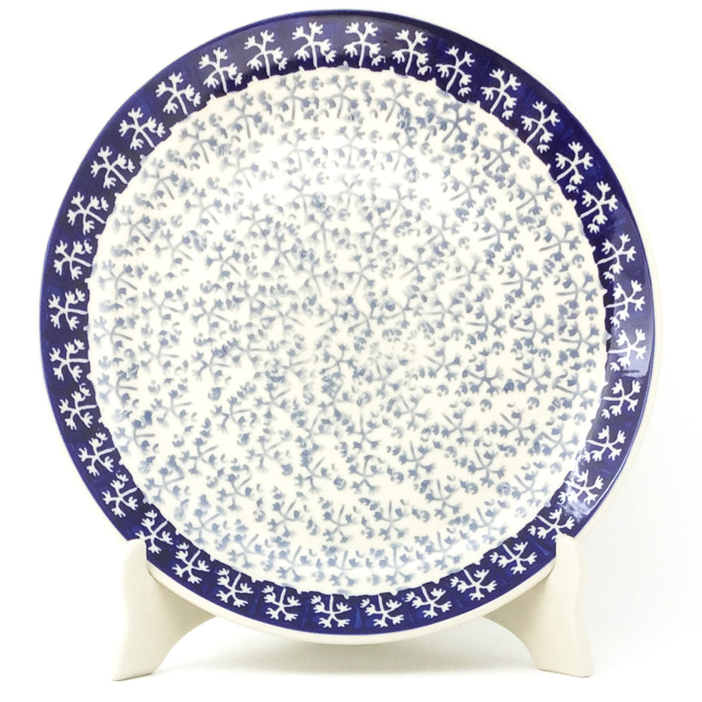 "Dinner Plate 10"" in Light & Dark Snowflake"