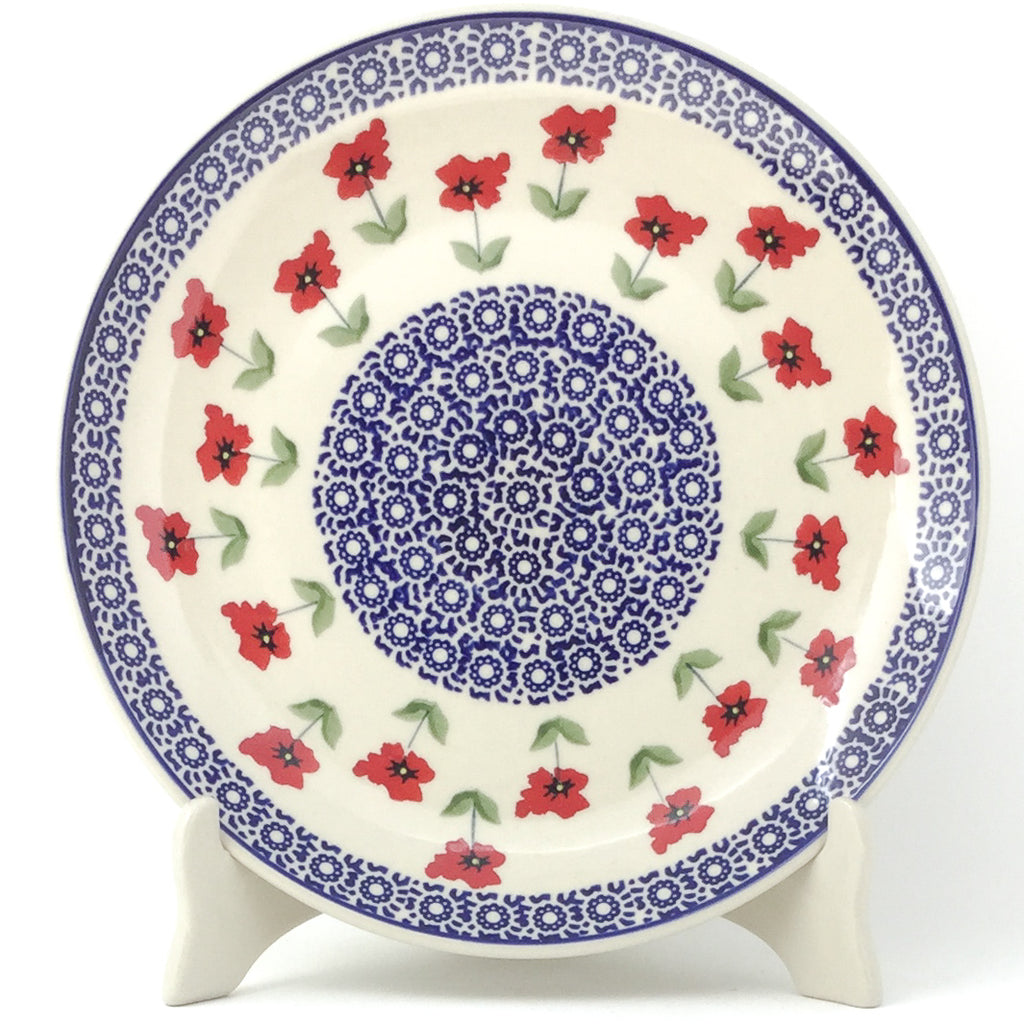 "Dinner Plate 10"" in Red Daisy"