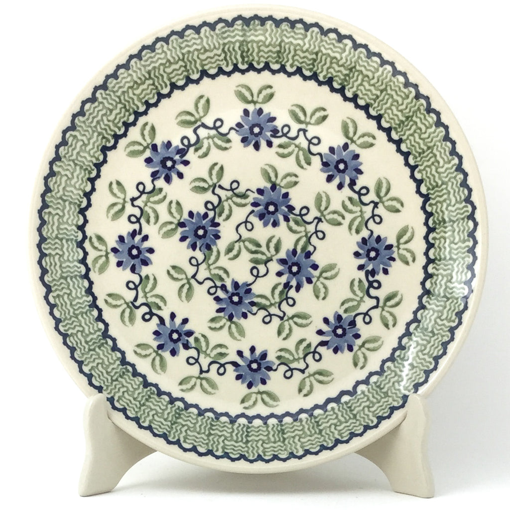 "Dinner Plate 10"" in Blue & Green Flowers"