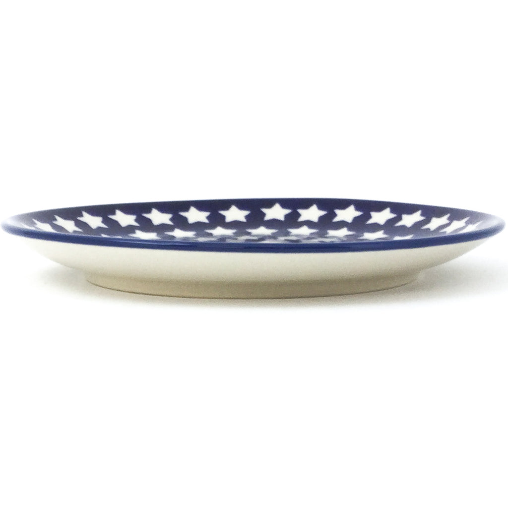 Luncheon Plate in White Stars