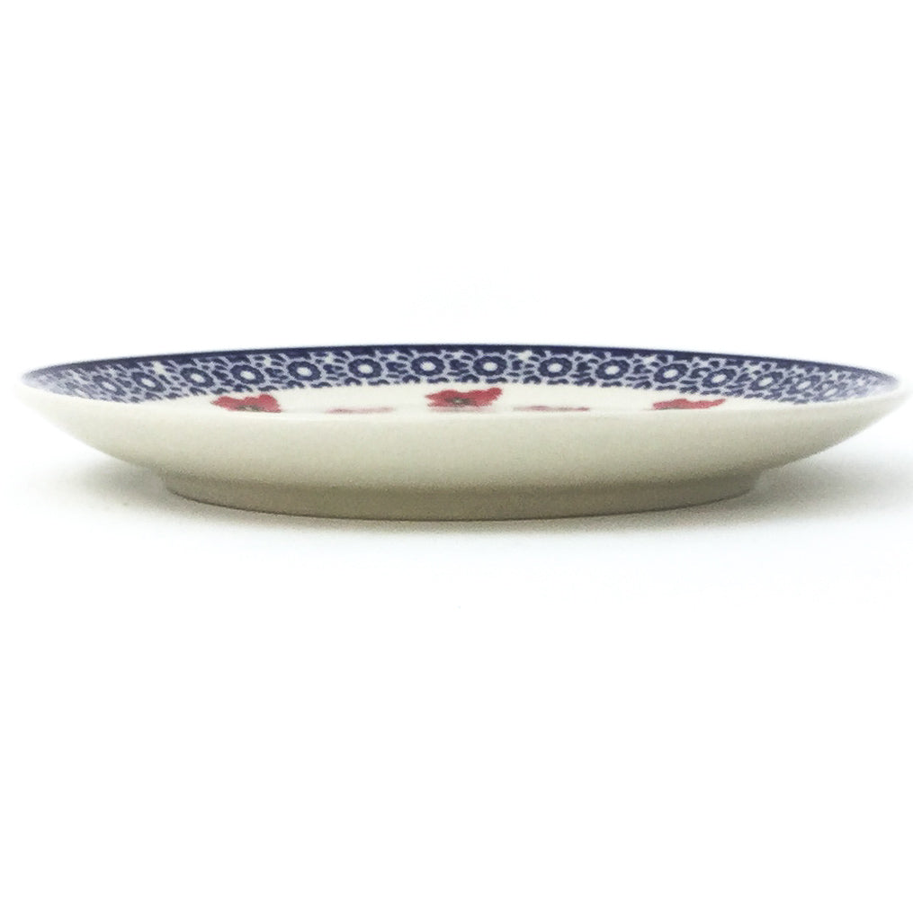 Luncheon Plate in Red Daisy