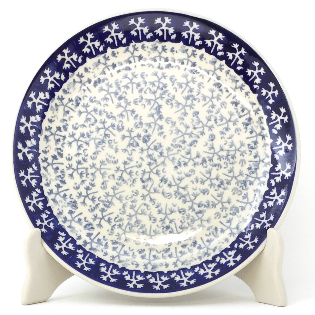 Luncheon Plate in Light & Dark Snowflake