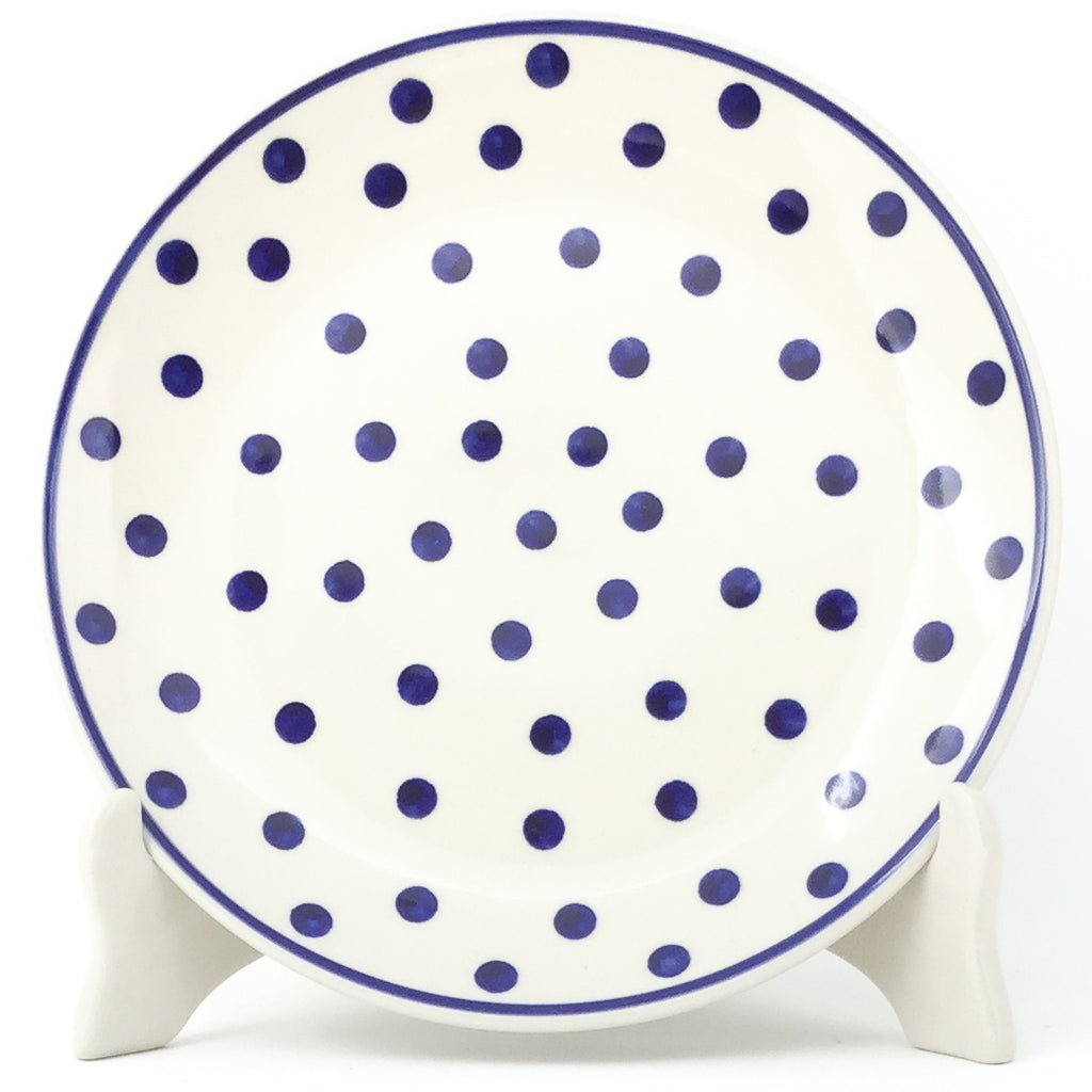 Luncheon Plate in Blue Polka-Dot
