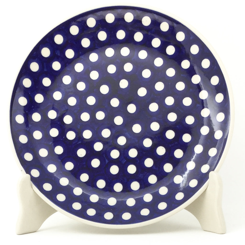 Luncheon Plate in White Polka-Dot