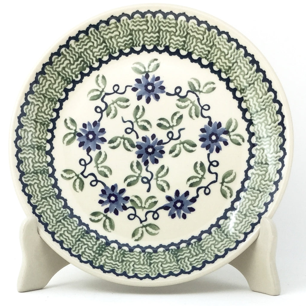 Luncheon Plate in Blue & Green Flowers