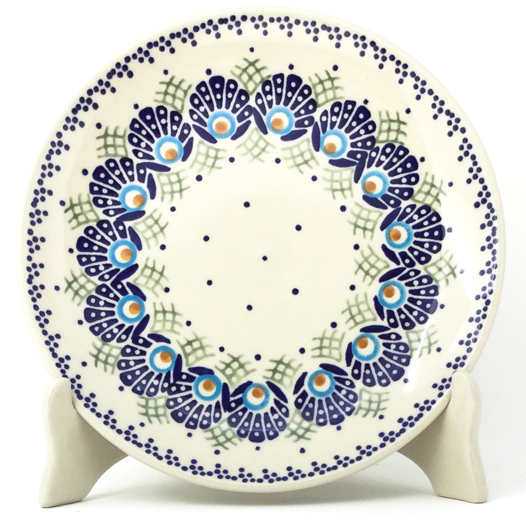 Luncheon Plate in Peacock Feathers