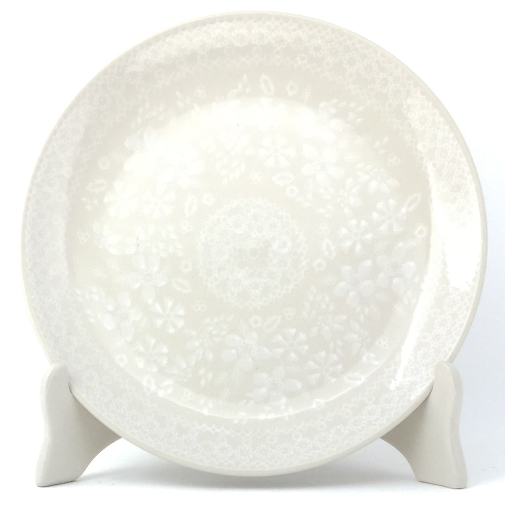 Luncheon Plate in White on White