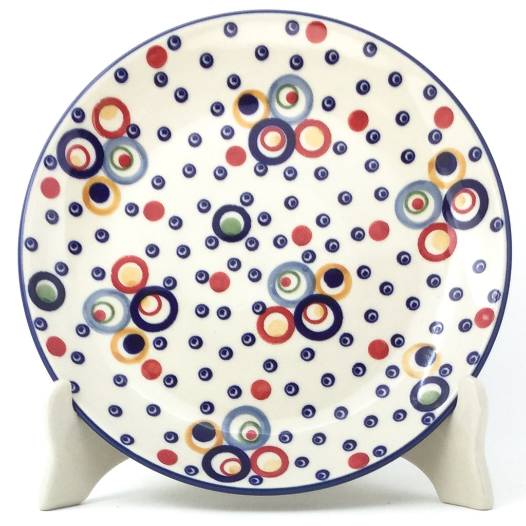 Luncheon Plate in Modern Circles