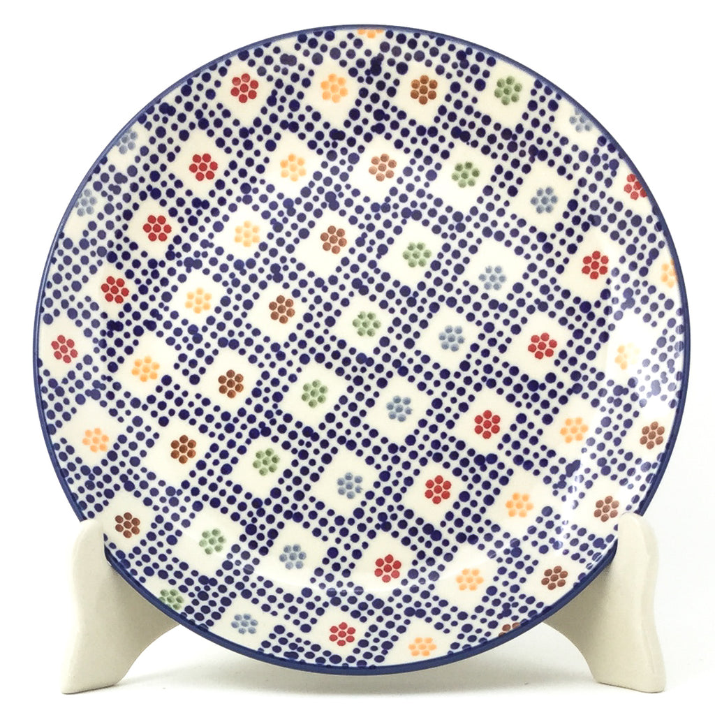 Luncheon Plate in Modern Checkers