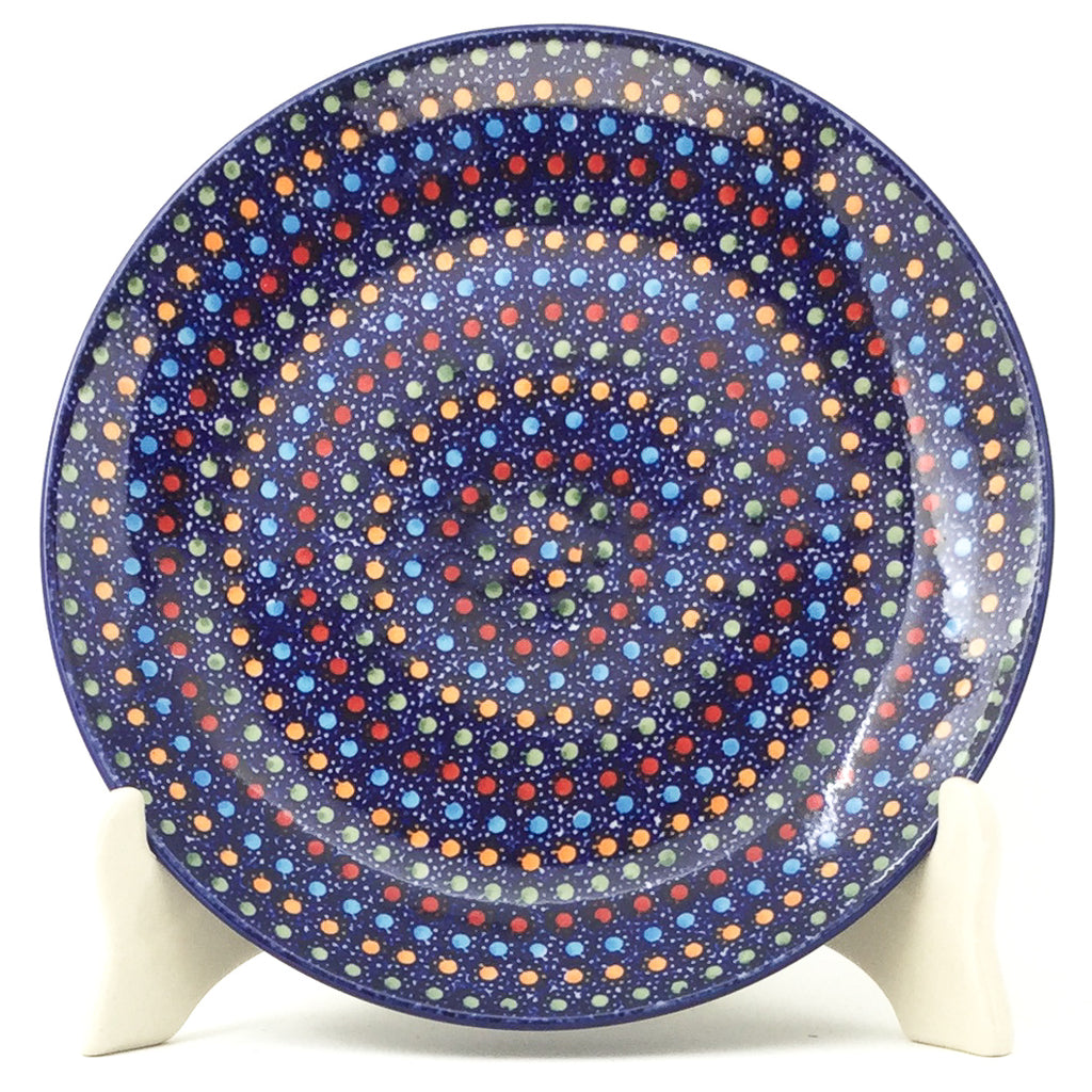 Luncheon Plate in Multi-Colored Dots