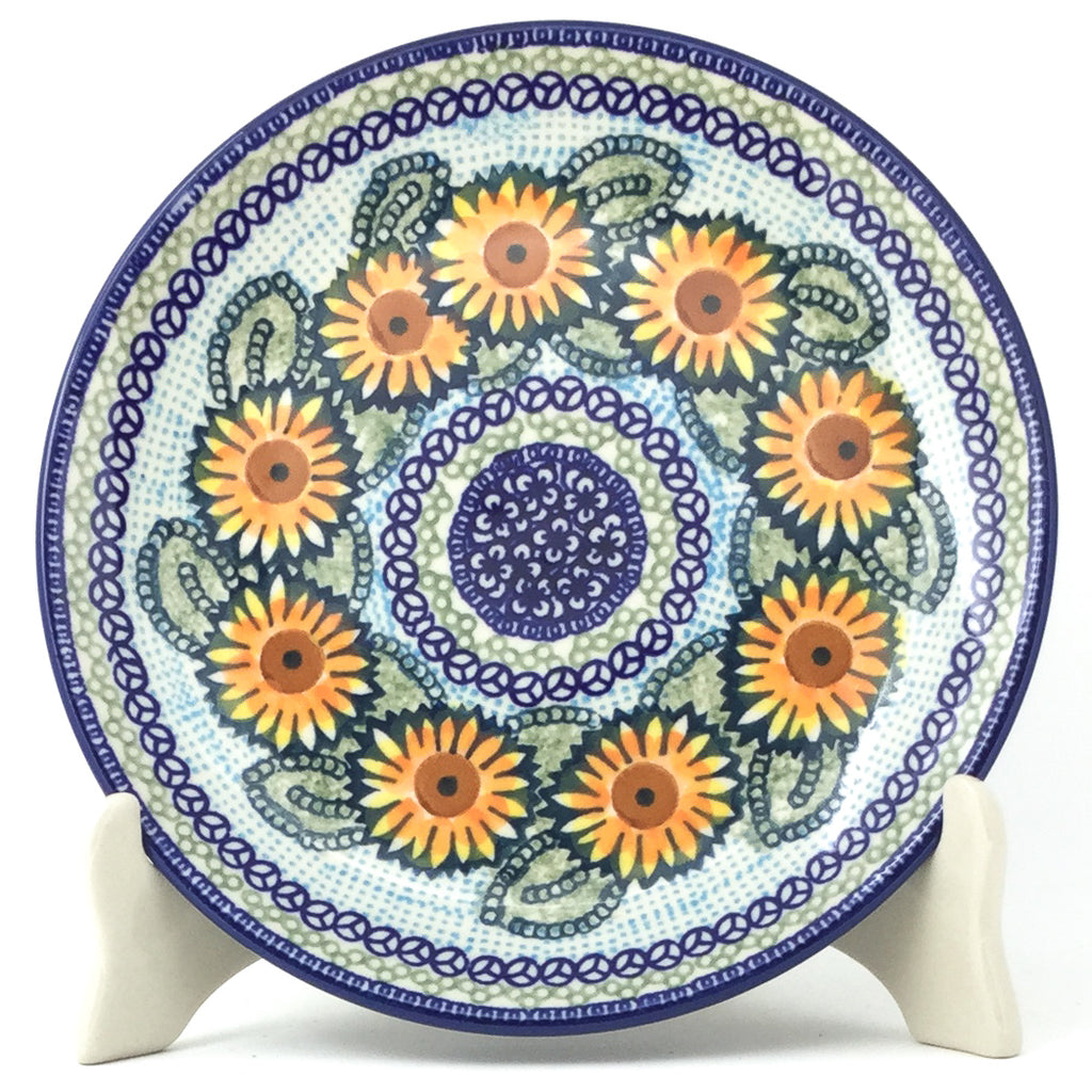 Luncheon Plate in Sunflowers