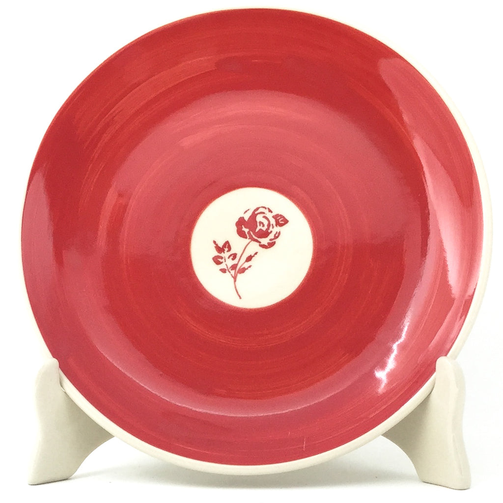 Luncheon Plate in Red Rose