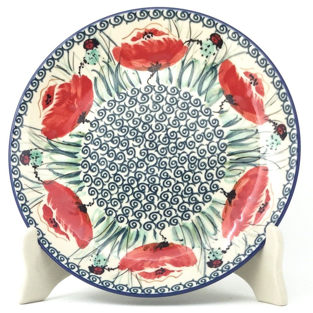 Luncheon Plate in Polish Poppy