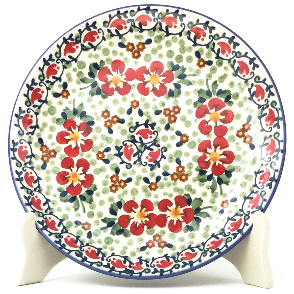 Luncheon Plate in Red Poppies