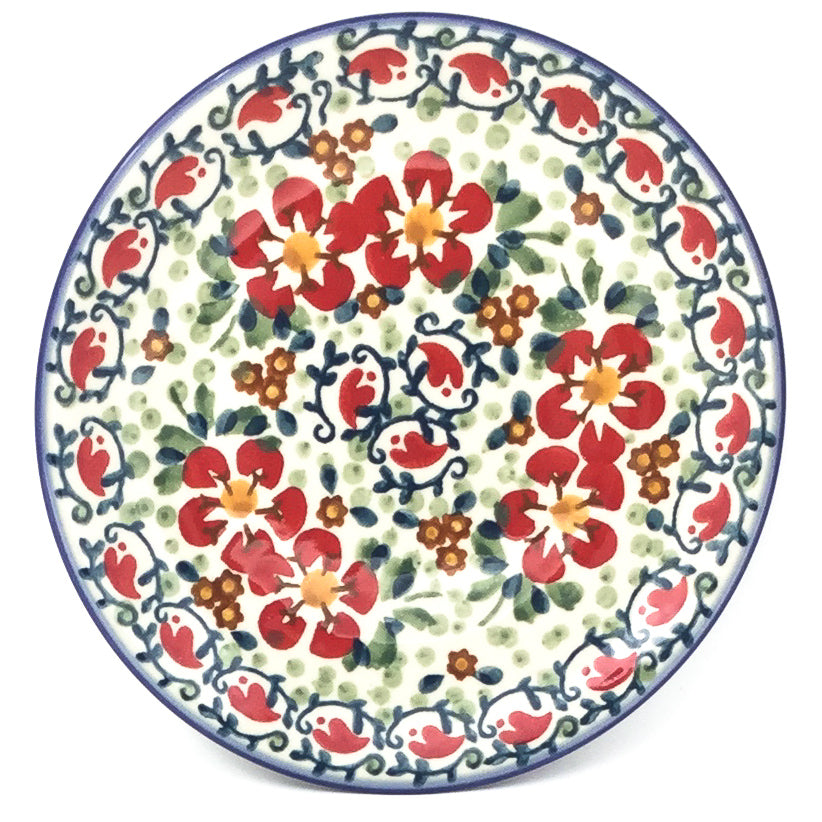 Bread & Butter Plate in Red Poppies