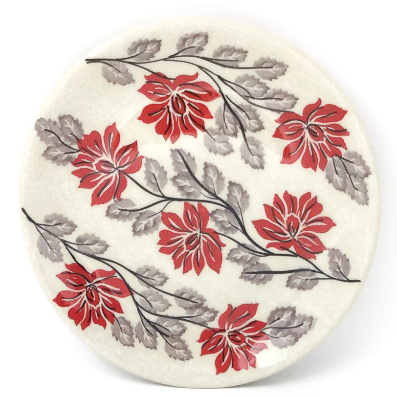 Bread & Butter Plate in Red & Gray